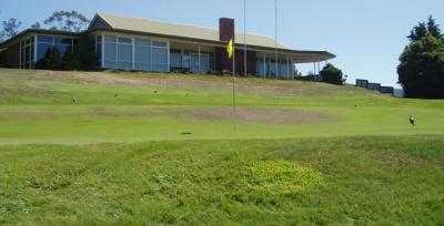 The club house as seen from the 18th green